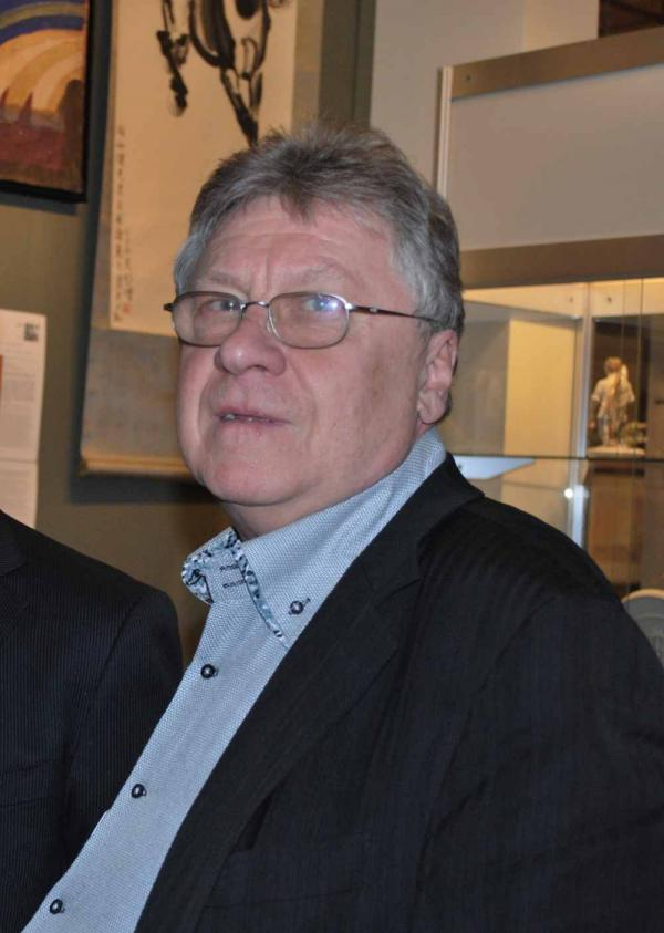Анатолий Боровков на 40-м Антикварном салоне. 26 марта 2016 года