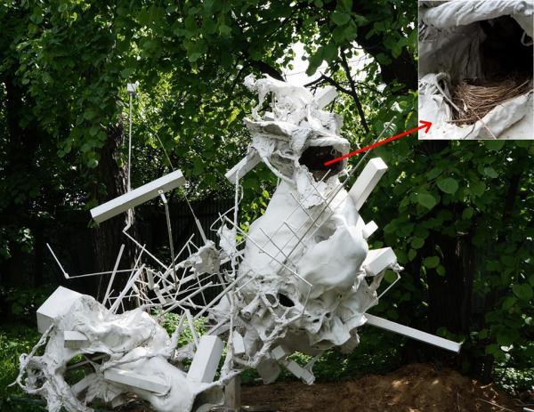 Дмитрий и Елена КАВАРГА Обитаемая скульптура для птиц