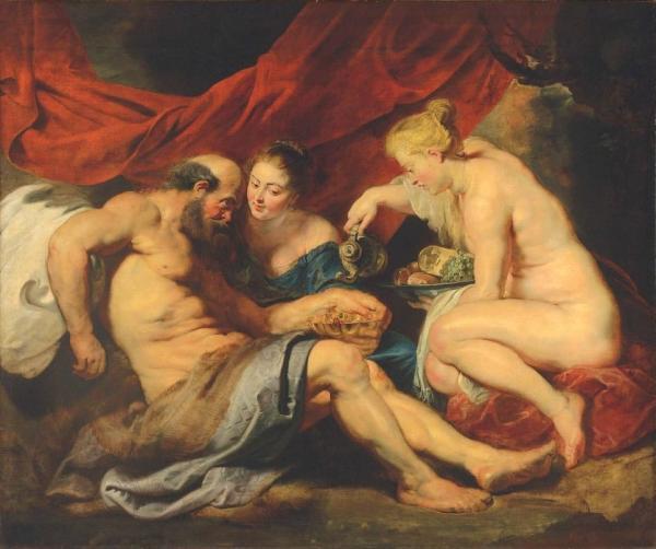 ПИТЕР ПАУЛЬ РУБЕНС Лот и его дочери. Около 1613 – 1614