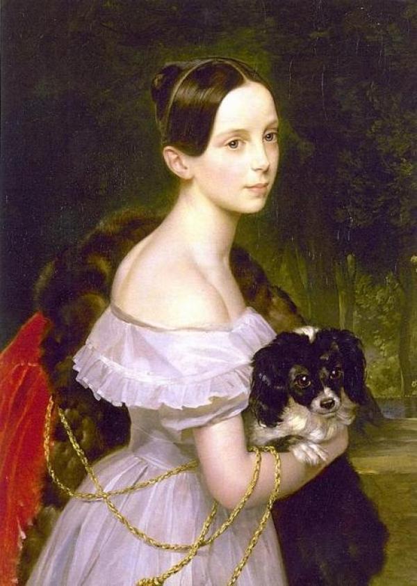 Портрет неизвестной кисти Брюллова оказался портретом великой княжны Александры Николаевны