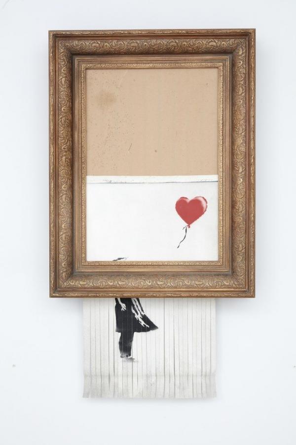 Покупательница порезанной картины Бэнкси оставит ее себе