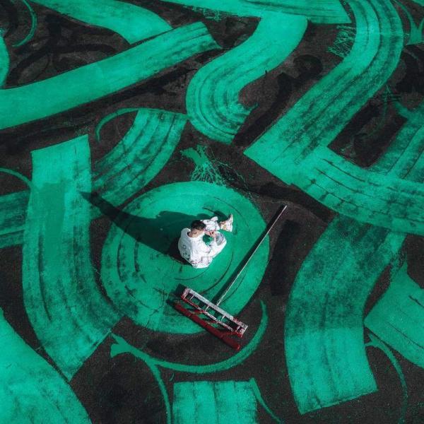 Русский художник Покрас Лампас сделал самое большое граффити в мире на стадионе «Локомотив»