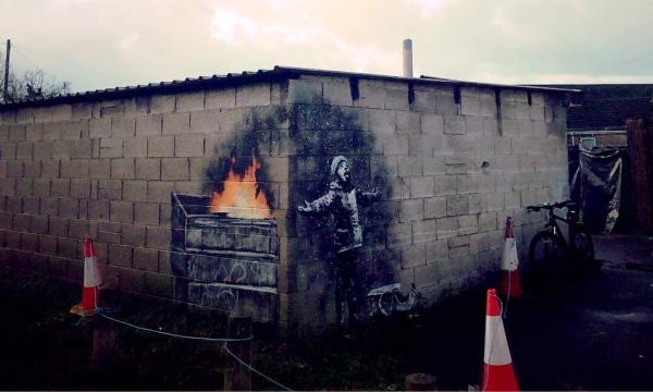 Новое граффити Бэнкси появилось в Уэльсе
