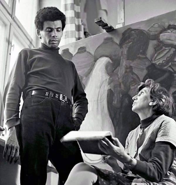 Вера Аралова-Паттерсон с сыном Джеймсом. 1975