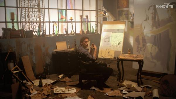 Кадр из фильма «Красная королева». Лев Барский по фильму, а в жизни — Феликс-Лев Збарский, успешный художник и муж манекенщицы