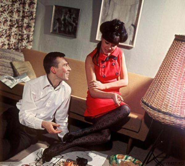 Регина Збарская и Вячеслав Зайцев. 1967