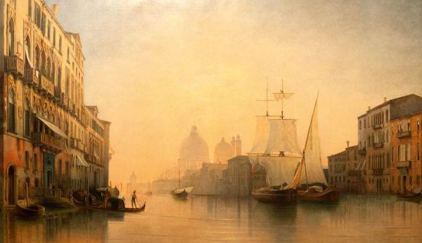 МОРДВИНОВ Александр Николаевич (1799–1858) Вид Большого канала в Венеции. 1853–1858