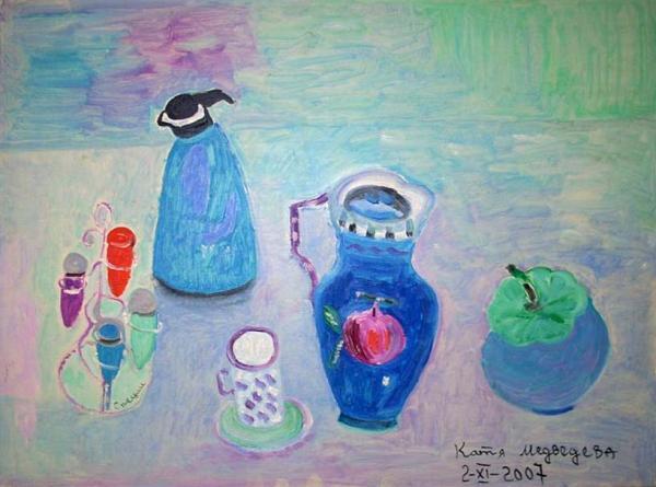КАТЯ МЕДВЕДЕВА. Специи. 2007. Холст, акрил. 60 х 80. Выставка «Широкая масленица». 2008