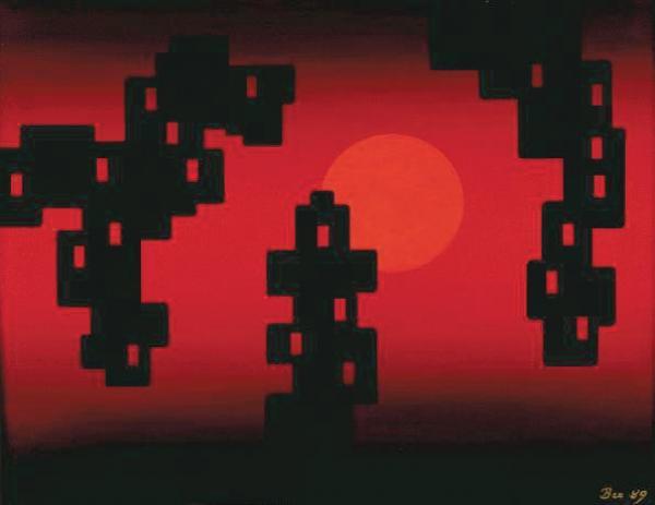 НИКОЛАЙ ВЕЧТОМОВ Конструкции, солнце. 1989 Источник: http://nonkonformist.narod.ru